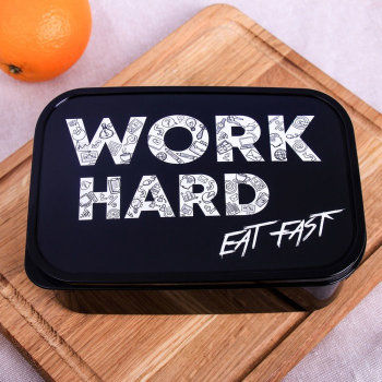 Ланч-бокс «Work Hard, Eat Fast» (1200 мл)