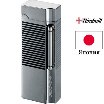 Газовая зажигалка Windmill RX-04 Black Nickel Horizontal Line