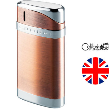 Газовая зажигалка Colibri Essex Satin Copper & Polished Silver