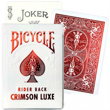 Игральные карты «Bicycle Crimson Luxe Rider Back» (USPCC, 54 карты)