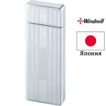 Газовая зажигалка Windmill M-100 Chrome Vertical Line E/T-3